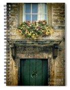 Flowers Over Doorway Spiral Notebook