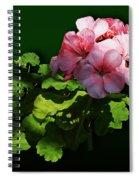 Flowers - Pale Pink Geranium Spiral Notebook