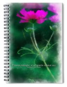 Flowers Whisper 01 Spiral Notebook