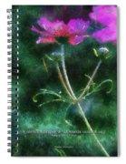 Flowers Whisper 02 Spiral Notebook