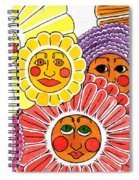 Flowers With Faces Spiral Notebook