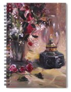 Flowers With Lantern Spiral Notebook