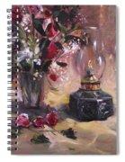 Flowers With Lantern Spiral Notebook