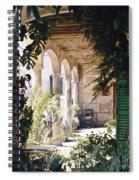 Flowery Majorquin  Patio In Valdemosa Spiral Notebook