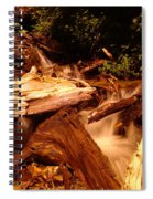 Flowing Betwixed Old Wood Near Mt St Helens Spiral Notebook