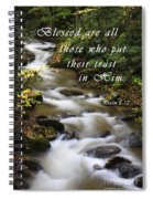 Flowing Creek With Scripture Spiral Notebook