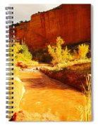 Flowing From Capital Reef Spiral Notebook