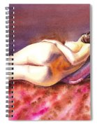 Flowing Lines Reclining Nude Spiral Notebook