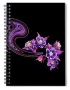 Flowing Purple Velvet 2 Spiral Notebook