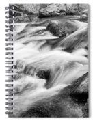 Flowing St Vrain Creek Black And White Spiral Notebook
