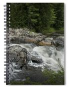 Flowing Stream With Waterfall In Vermont Spiral Notebook