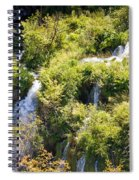 Flowing Water On Falling Lakes Of Plitvice Spiral Notebook