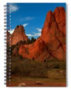 Fluffy Clouds Over Jagged Peaks Spiral Notebook