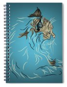 Fluffy Gray Cat In Profile Spiral Notebook