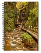 Flume Gorge At Franconia Notch Spiral Notebook