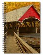 Flume Gorge Covered Bridge Spiral Notebook