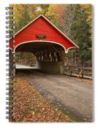 Flume Gorge Covered Bridge Fall Colors Spiral Notebook