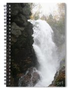 Flume Gorge Waterfall In Autumn Spiral Notebook