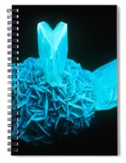 Fluorescing Selenite Gypsum Spiral Notebook