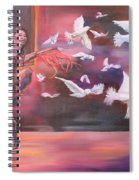 Fly Above Spiral Notebook