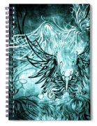 Fly Away Gothic Aqua Spiral Notebook
