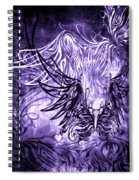 Fly Away Gothic Grape Spiral Notebook