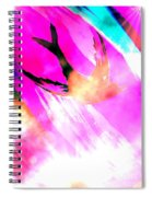 Fly Away Home Abstract Spiral Notebook