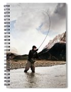Fly Fishing At The Base Of Fitz Roy Spiral Notebook