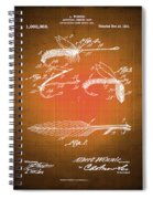 Fly Fishing Bait Patent Blueprint Drawing Sepia Spiral Notebook