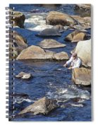 Fly Fishing On Mountain River Spiral Notebook