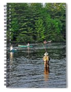 Fly Fishing West Penobscot River Maine Spiral Notebook