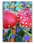 Fly-fungus With Blue Leaves By M.l.d.moerings 2009 Spiral Notebook