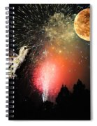 Fly Me To The Moon Spiral Notebook