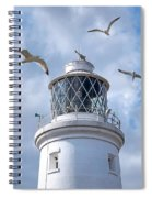 Fly Past - Seagulls Round Southwold Lighthouse - Square Spiral Notebook