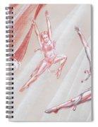 Flying Dancers  Spiral Notebook