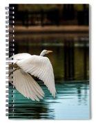 Flying Egret Spiral Notebook