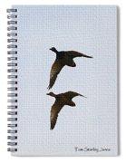 Flying Fast Ducks Spiral Notebook
