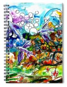 Flying Fish Tree And Bubbles Spiral Notebook
