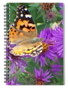 Flying Flower Spiral Notebook