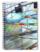 Flying Inside Ferris Wheel Spiral Notebook