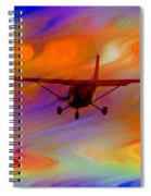 Flying Into A Rainbow Spiral Notebook