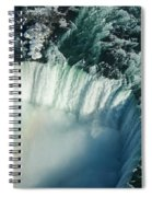 Flying Over Icy Niagara Falls Spiral Notebook