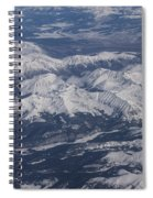 Flying Over The Snow Covered Rocky Mountains Spiral Notebook