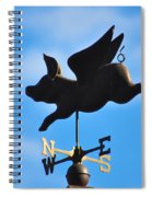 Flying Pig Spiral Notebook
