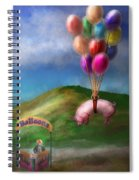 Flying Pig - Child - How I Wish I Were A Bird Spiral Notebook