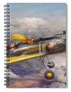 Flying Pig - Plane - The Joy Ride Spiral Notebook
