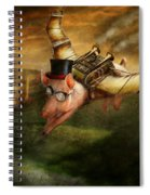 Flying Pig - Steampunk - The Flying Swine Spiral Notebook