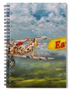 Flying Pigs - Plane - Eat Beef Spiral Notebook