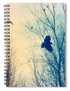 Flying Retro Spiral Notebook