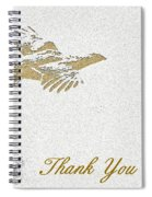 Flying Ruffed Grouse Thank You Spiral Notebook